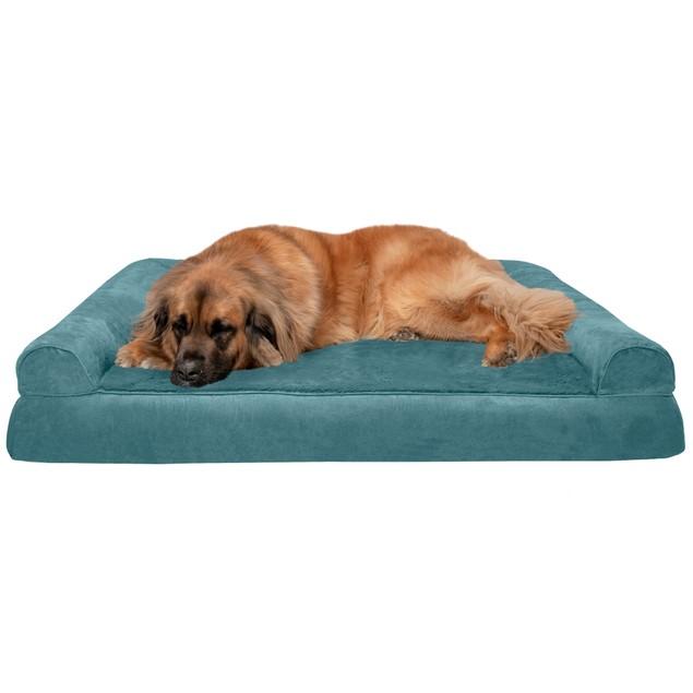 FurHaven Plush & Suede Orthopedic Sofa Pet Bed