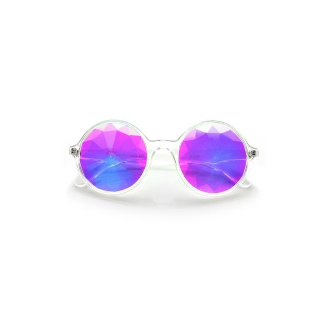 Clear Kaleidoscope Sunglasses Glasses Adult Costume  Accessory Lady Gaga