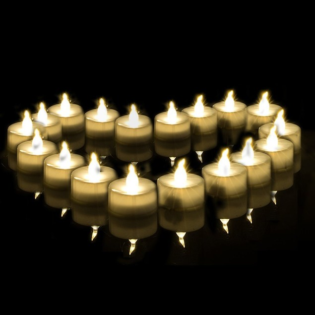 AGPtek®100 Pack LED Battery-Operated Flameless Tea Light Candles,Warm White