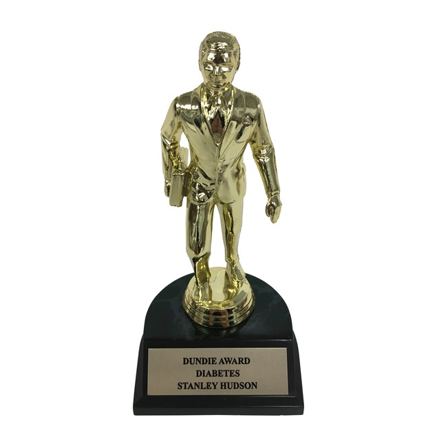 Stanley Hudson Diabetes Dundie Award Trophy Office Dunder Mifflin Gift