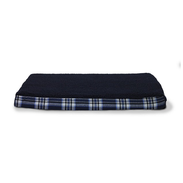 Faux-Sheepskin & Plaid Ortho Pet Mattress