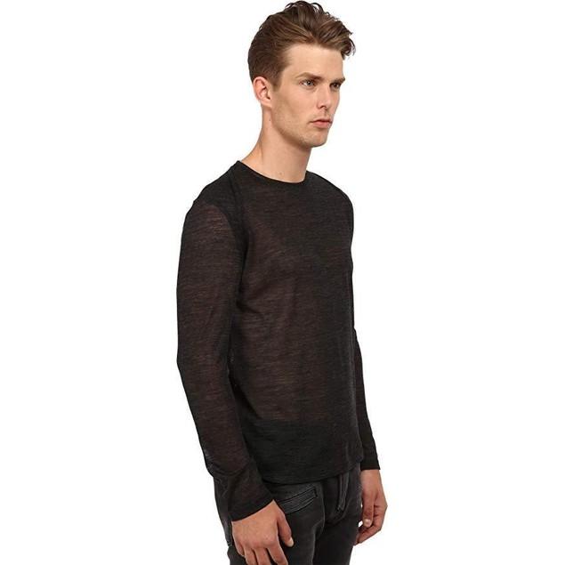 CoSTUME NATIONAL Men's Motor Panel Shoulders Shirt Grigio Scuro XL
