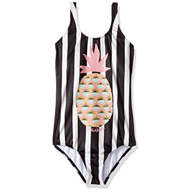 Billabong Big Girls' Beach Bandit One Piece Swimsuit, Multi, Sz 12