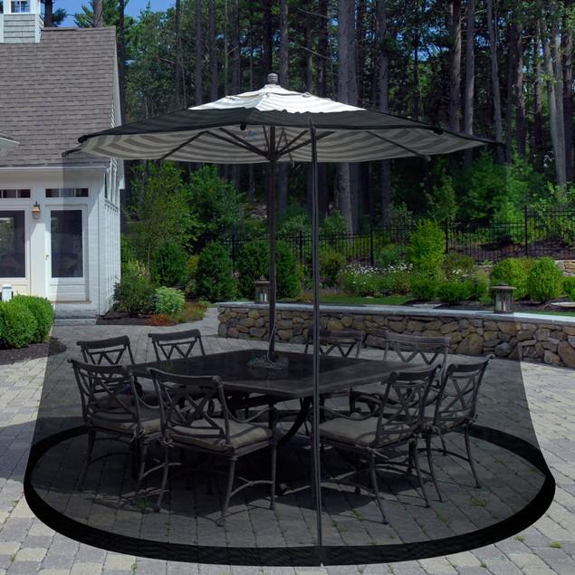Pure Garden Outdoor Umbrella Screen - Black