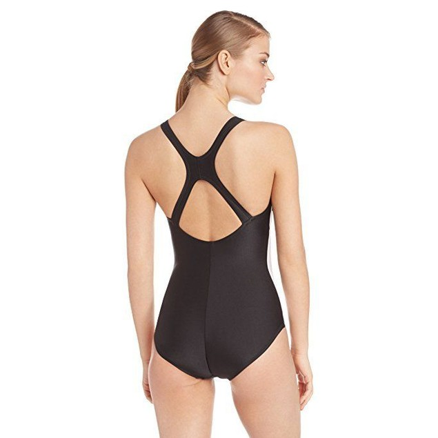 Speedo Women's Powerflex Illusion Splice Ultraback Swimsuit Sz: 16