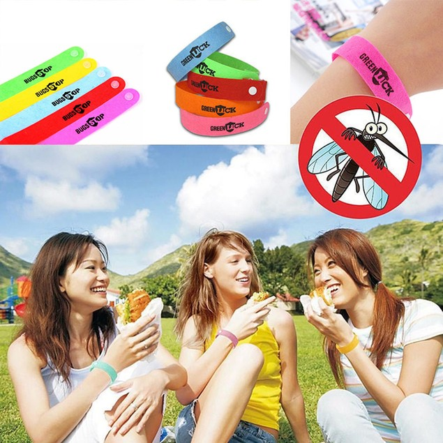 10PCS Non Toxic Mosquito Repellent Bracelet Baby Child Wristband Outdoor