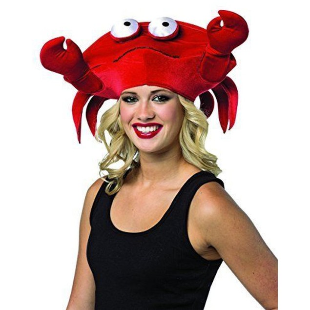Crab Hat Costume Halloween Cap Funny Novelty Gift Lover