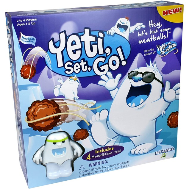 PlayMonster Yeti Skill and Action Kids Game with 4 Piece Snowy Mountain