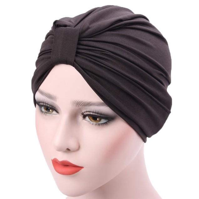 Women Muslim Stretch Turban Hat Hair Loss Head Scarf Wrap Hijib Cap