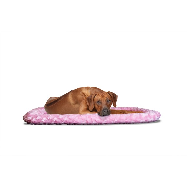 FurHaven Ultra Plush Bolster Pet Bed for Kennels & Crates
