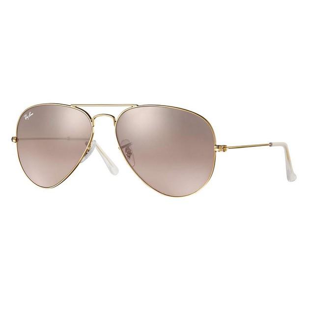 Ray-Ban AVIATOR GRADIENT Pink Mirror Sunglasses - RB3025-001/3E-58