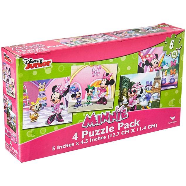 Disney Minnie Mouse, 4 Puzzle Pack, 6 Piece Jigsaw Puzzles