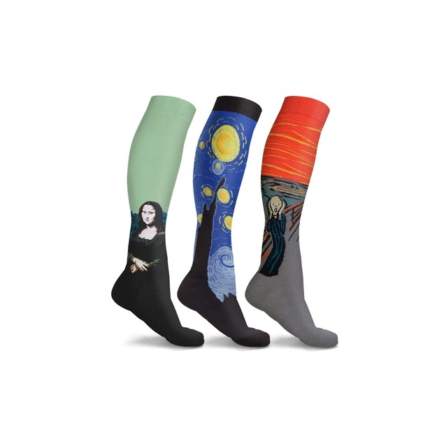 3 Pairs of DCF Famous Art Paintings Unisex Compression Socks