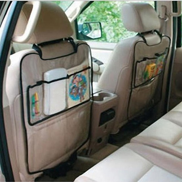 Car Auto Seat Back Protector Cover For Children Kick Mat Storage Bag