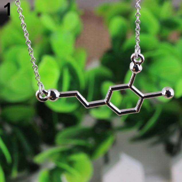 Acetylcholine Biochemistry Molecule Pendant Necklace
