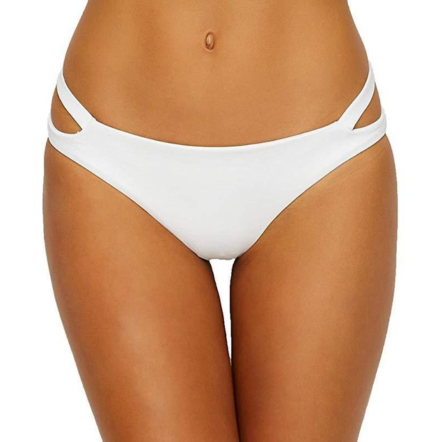 Becca Color Code Keyhole Hipster Bikini Bottom, Sz: L, White