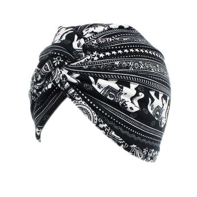 Women Floral Cancer Chemo Hat Beanie Scarf Turban Head Wrap Cap E