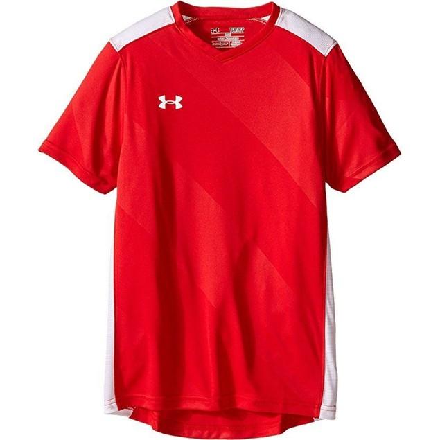 Under Armour Kids Boy's UA Fixture Jersey (Big Kids) Red T-Shirt YLG