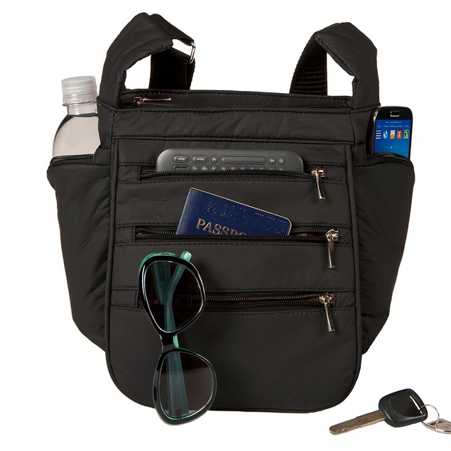 Wash and Wear Multi-Pocket RFID CrossBody Organizer Day and Travel Bag