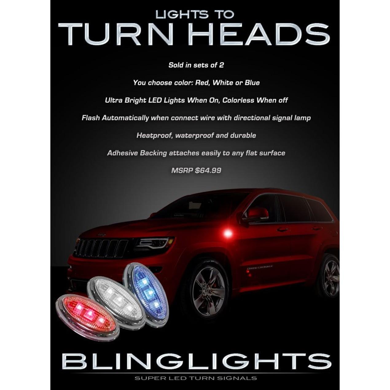 New Jeep Grand Cherokee LED Flush Mount Turn Signal Lights Kit Signaler Bli  ...