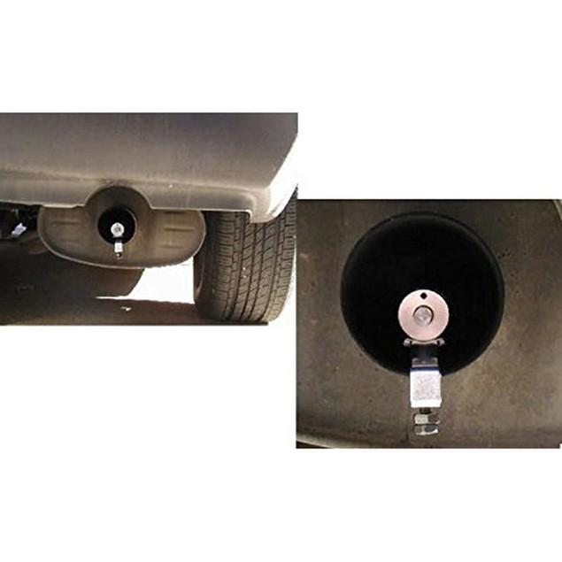 Universal Car Turbo Muffler Exhaust Pipe Sound Simulator Whistle M Size@3