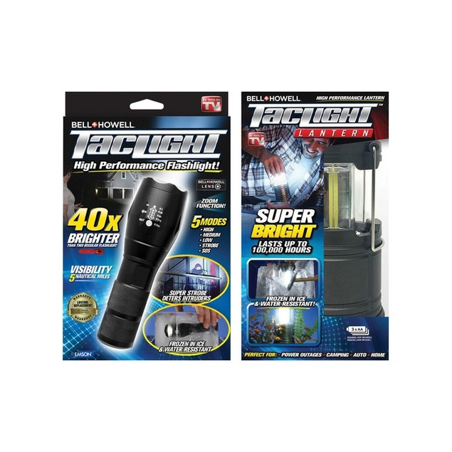 Taclight Lantern + Flashlight Bundle - AS SEEN ON TV