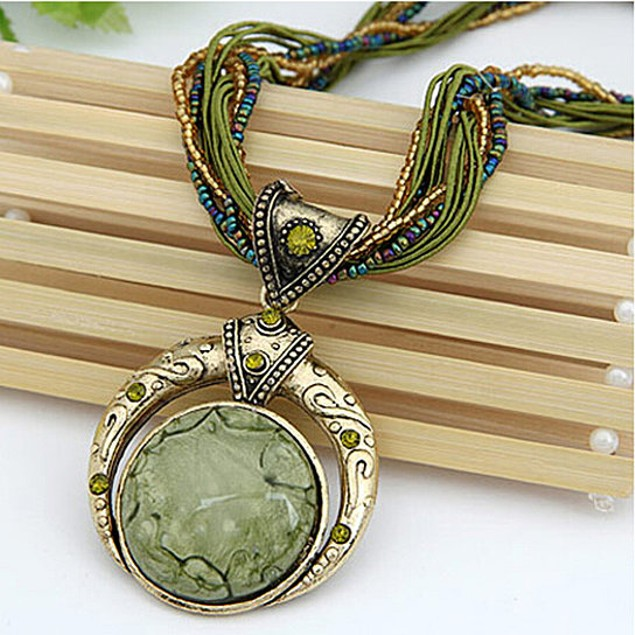 Bohemian Necklace in 5 Different Stones
