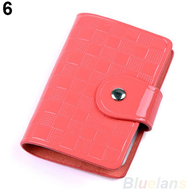Woman Patent Leather ID Credit Card Holder