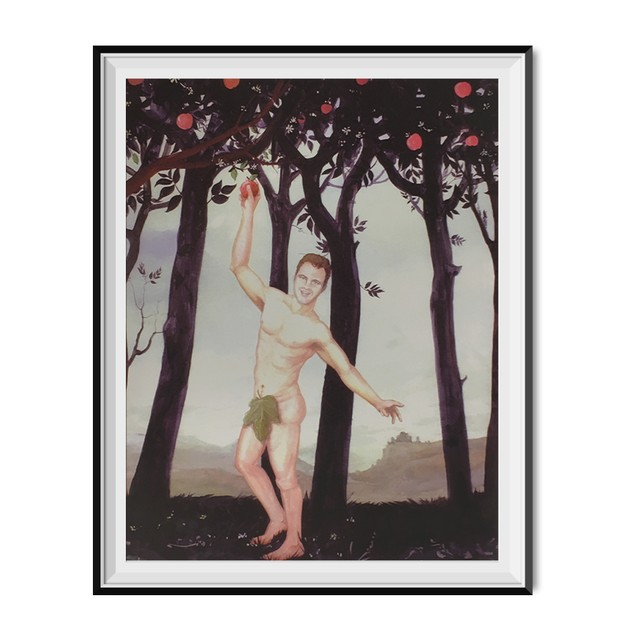 Todd Cleary Jeremy Grey Nude Celebration Painting Poster 18 x 24