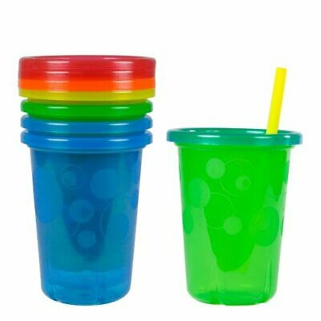 The First Years Take & Toss Straw Cups 10oz 4pk