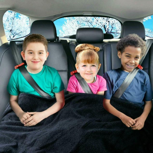 Zone Tech Car Heated Fleece Electric Travel Blanket 45 Minute Safety Timer