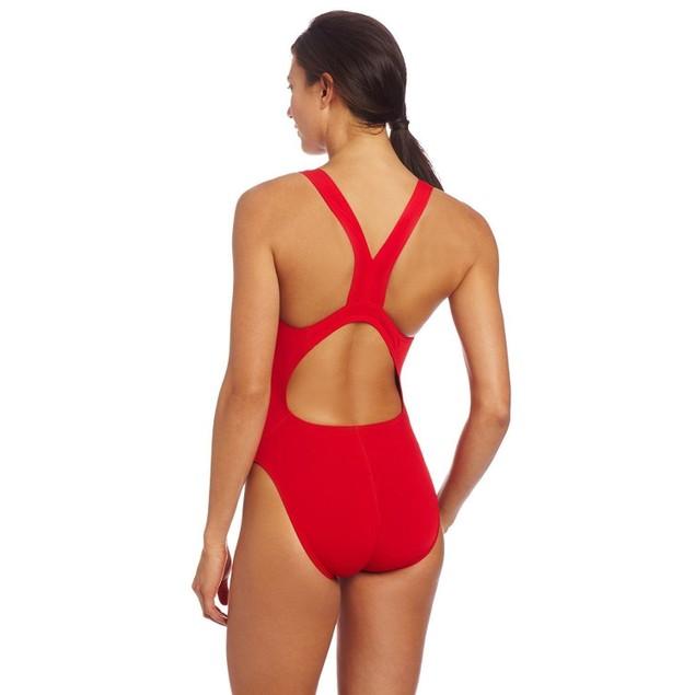 Speedo Women's Guard Super Pro Swimsuit, Red, 36