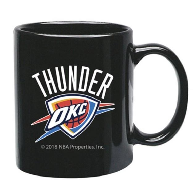 Oklahoma City Thunder NBA Black Ceramic Coffee Mug