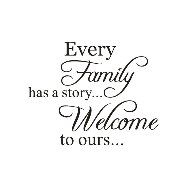 Every Family Removable Wall Stickers Art Vinyl Mural  Home Room Decor