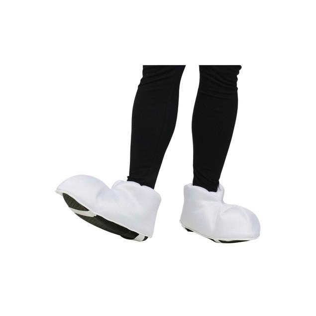 Cartoon Adult Feet Shoe Covers White Big Style Costume Video Game Halloween