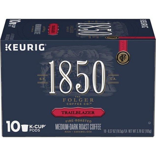 Folgers 1850 Trailblazer Coffee K Cups 2 Box Pack