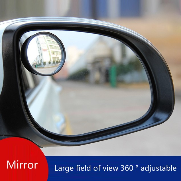 2 Pack Car Oval Shaped Blind Spot Mirror Wide Angle Convex Mirror@1