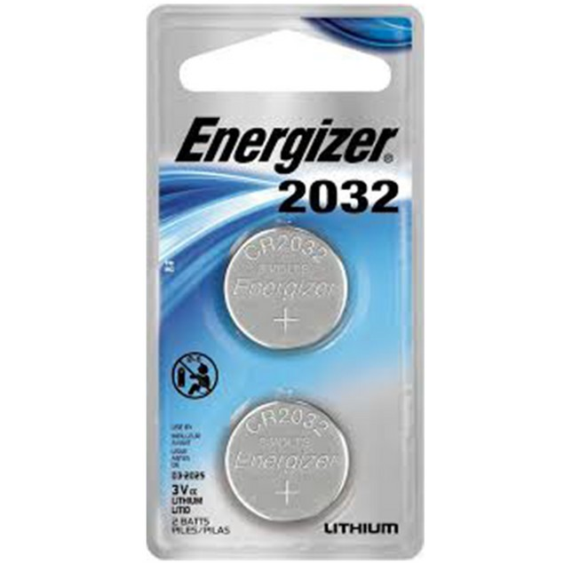 Energizer CR2032 Lithium Coin Cell Battery (2 Batteries)