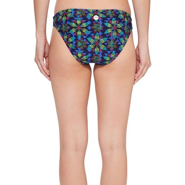 TYR Women's Edessa Lula Bikini Bottom, SZ: Medium, Navy/Multicolor