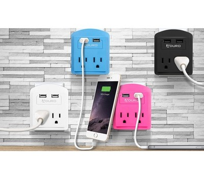 Aduro 2-Outlet Surge Protector with Dual USB Ports Was: $59.99 Now: $10.99.