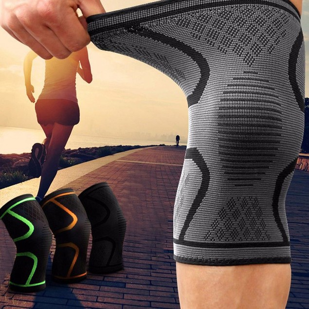 2pc Knee Sleeve Compression Brace Support For Sport Joint Pain Arthritis