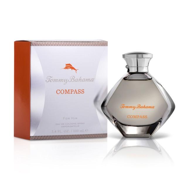 Tommy Bahama Compass Eau de Cologne Natural Exotic Perfume For Men, 3.4 Fl.