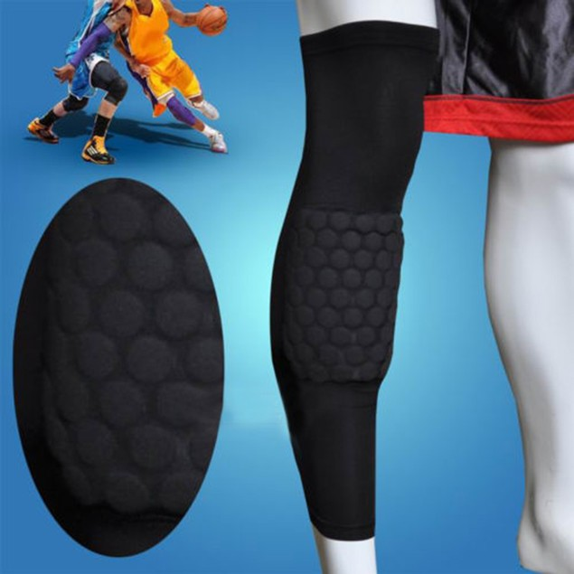 Honeycomb Pad Crashproof Antislip Leg Knee Long Sleeve Protector Gear