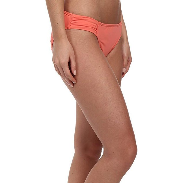 Tommy Bahama Ruched Side-Tab Hipster Bikini Bottom Coral XL