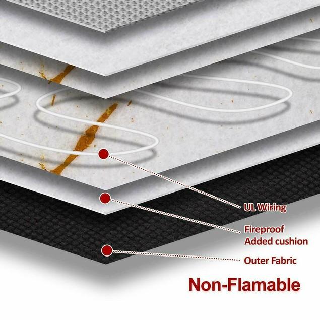 Zone Tech Heated Car Seat Heater Cushion Warmer 45 Minute Timer