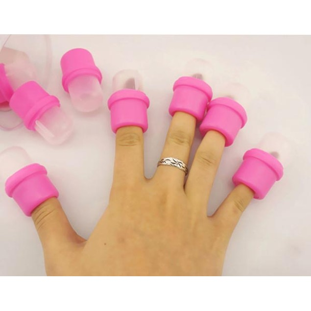 10 Piece Wearable Nail Soak Polish Removers