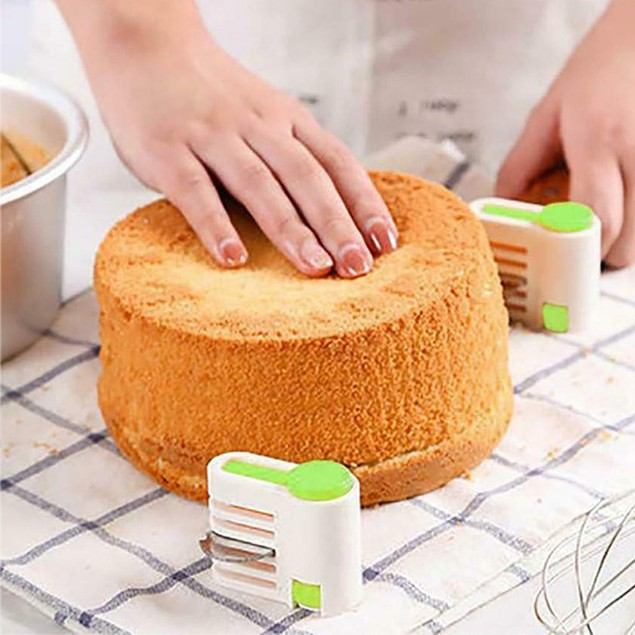 DIY 5-Layer Bread Cake Slicer Cutting Fixator Toast Leveler Cutter Tool