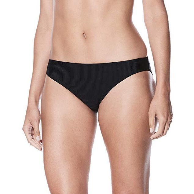 NIKE NESS8323 Women's Rib Bikini Bottom, Black SZ:  Large