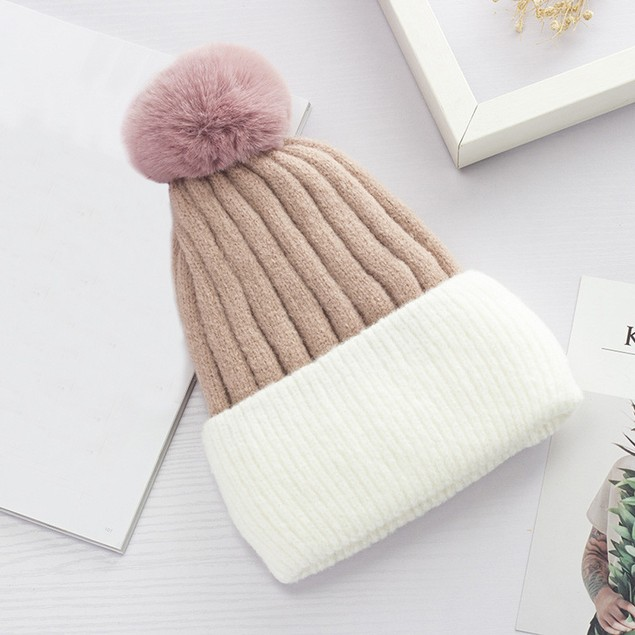 Women Winter Keep Warm Crochet Ski Hat Braided Cap t