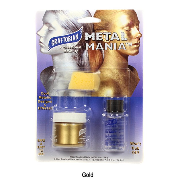 Metal Mania Gold Cosmetic Powdered Metals